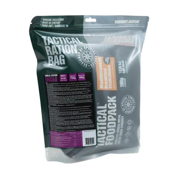 Tactical Foodpack 3 Meal Ration INDIA, 725 g Beutel