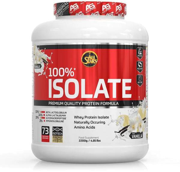 All Stars 100% Whey Protein Isolate, 2200 g Dose