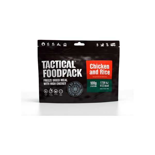 Tactical Foodpack Chicken & Rice, 100 g Beutel