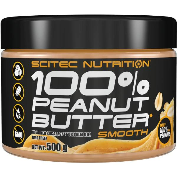 Scitec Nutrition 100 % Peanut Butter, 500 g Dose, Smooth