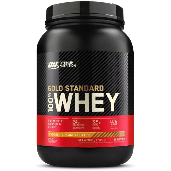 Optimum Nutrition 100 % Whey Gold Standard, 2 lb Dose