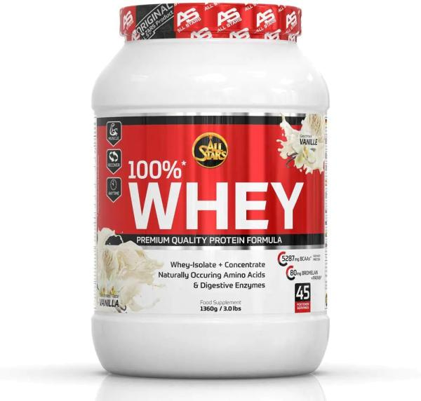 All Stars 100% Whey Protein, 1360 g Dose