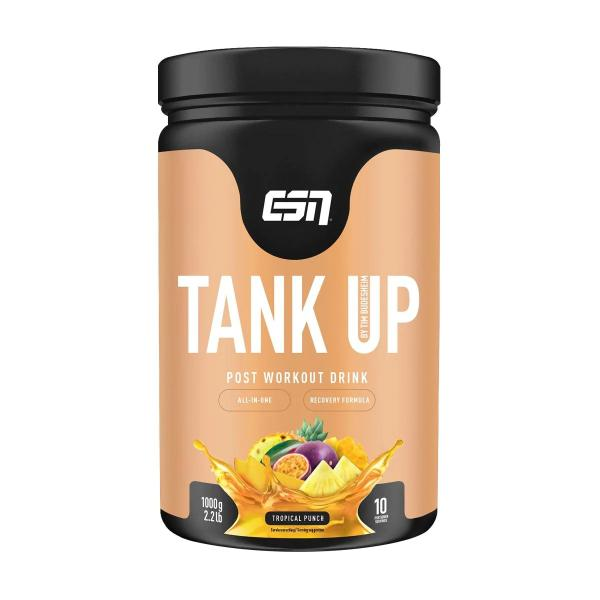 ESN Tank Up Post Workout Shake, 1000g Dose, Tropical Punch