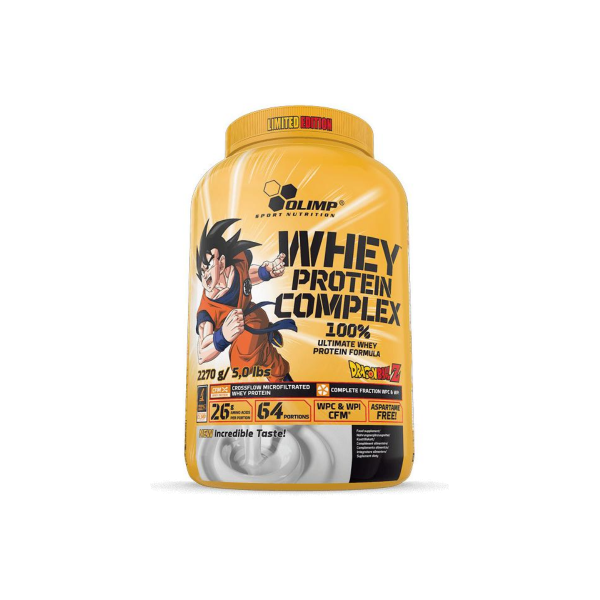 Olimp Whey Protein Complex 100 %, Limited Edition Dragon Ball Z, 2270 g Dose, Cookies & Cream