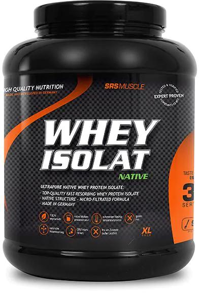 SRS Whey Isolat Native, 900 g Dose, Neutral