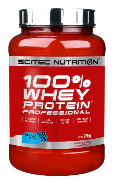 Scitec Nutrition 4 x 920g Whey 100% Protein Professional