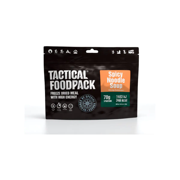 Tactical Foodpack Spicy Noodle Soup, 70 g Beutel