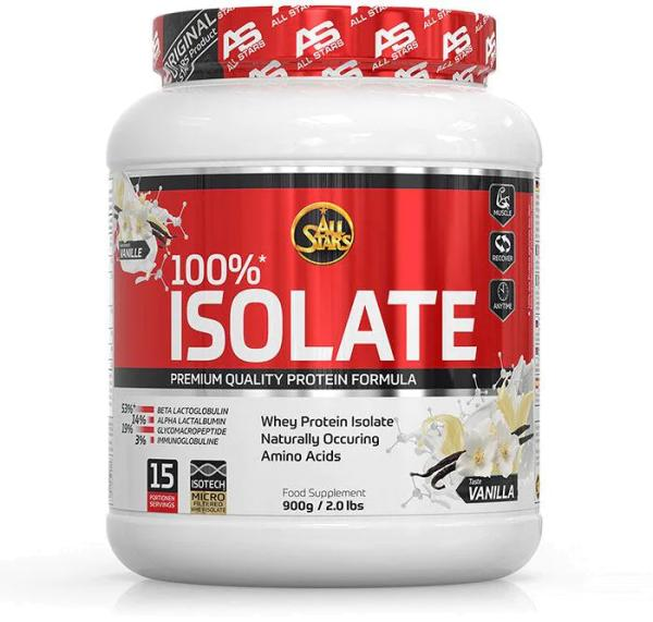 All Stars 100% Whey Protein Isolate, 900 g Dose
