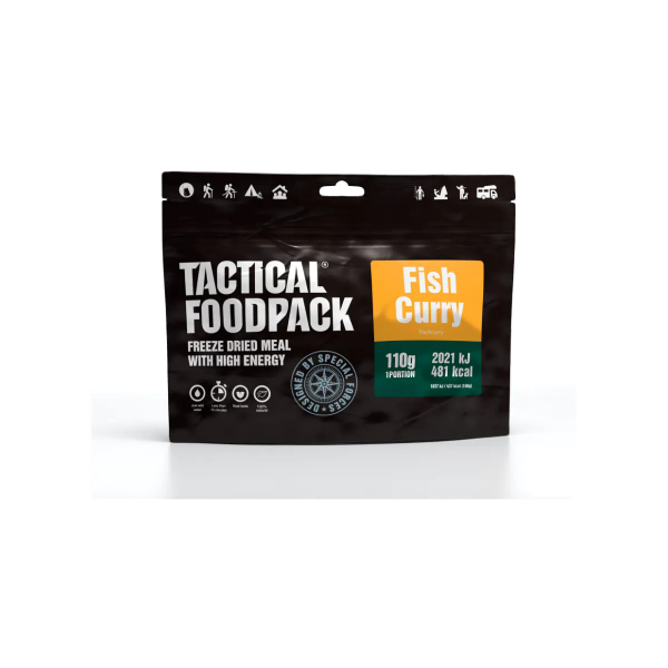 Tactical Foodpack Fish Curry, 110 g Beutel