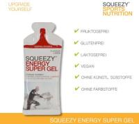 Squeezy Energy Super Gel Box, 12 x 33 g Beutel