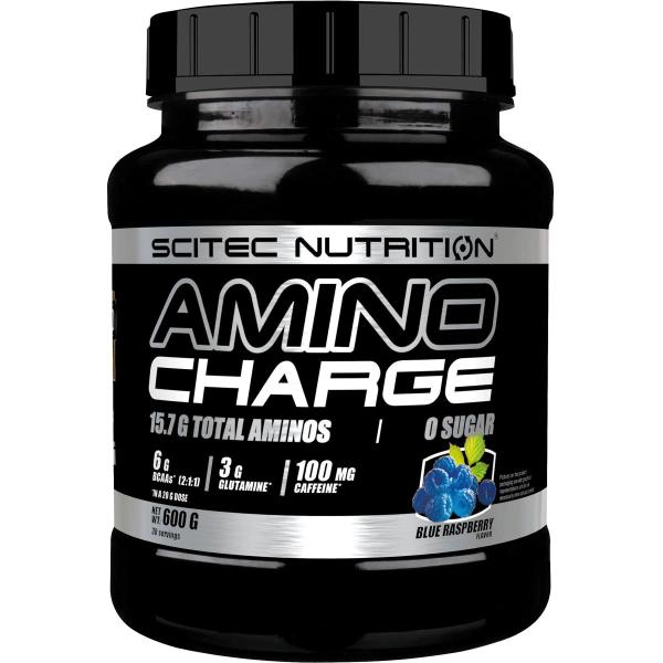 Scitec Nutrition Amino Charge, 600 g Dose, Blue Raspberry