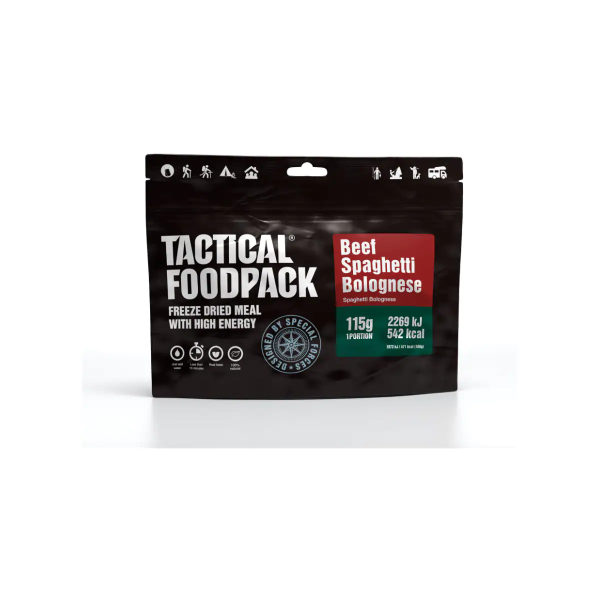 Tactical Foodpack Beef Spaghetti Bolognese, 115 g Beutel
