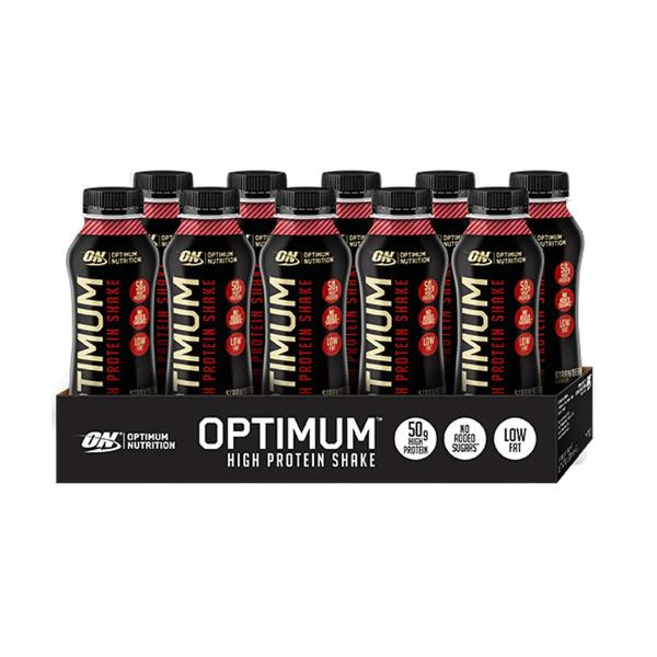 Optimum Nutrition OPTIMUM Shake, 10 x 500 ml Flaschen