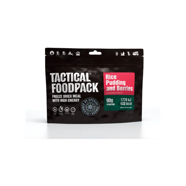 Tactical Foodpack Rice Pudding & Berries, 90 g Beutel