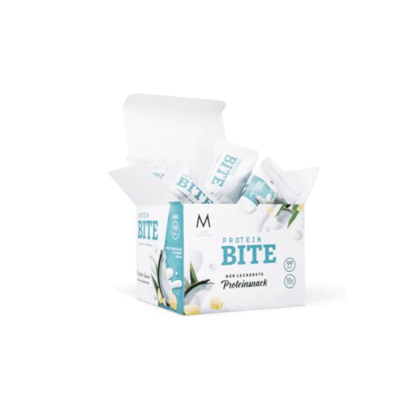 More Nutrition Protein Bites, 12 x 26 g Riegel, White Chocolate Coconut Dream