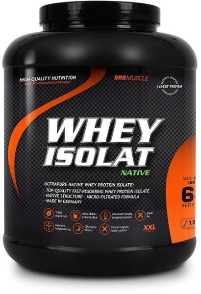SRS Whey Isolat Native, 1900 g Dose, Neutral