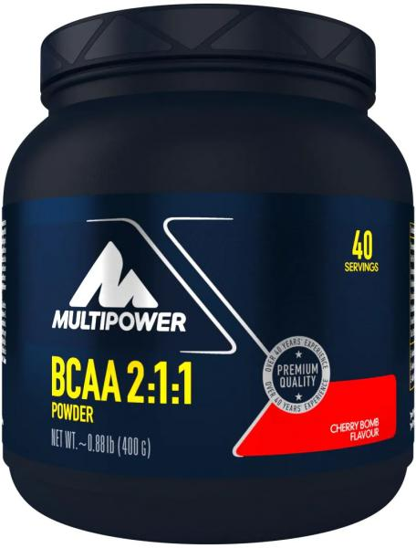 Multipower BCAA Powder 2:1:1, 400 g Dose, Cherry Bomb