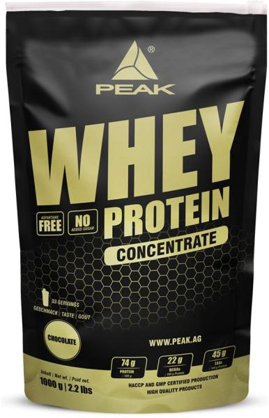 Peak Performance Whey Protein Concentrate, 1000 g Beutel