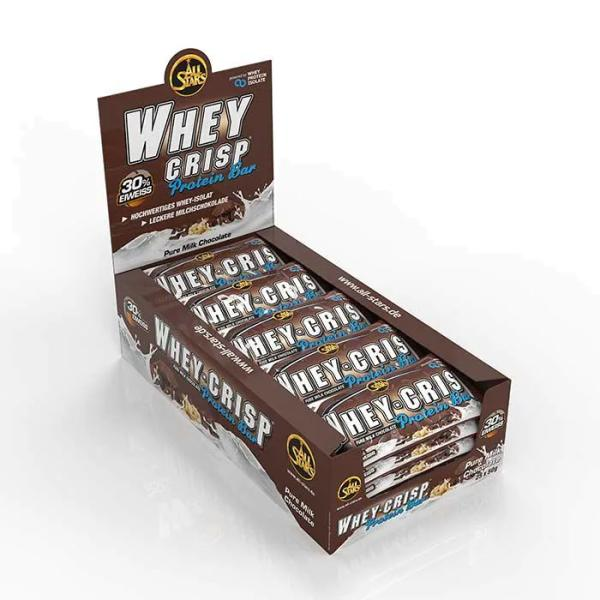 All Stars Whey-Crisp Protein Bar, 25 x 50 g Riegel